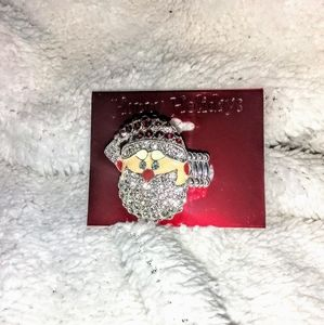 4/$30🎅NWT SPARKLY SANTA CLAUS STRETCH BAND RING